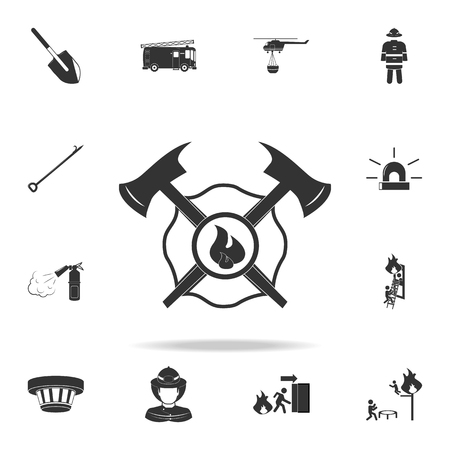 Two axes icon. Detailed set of Fireman icons. Premium quality graphic design.