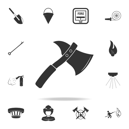Water bucket extinguishing a fire icon. Detailed set of Fireman icons. Premium quality graphic design. One of the collection icons for websites, web design, mobile app on white background