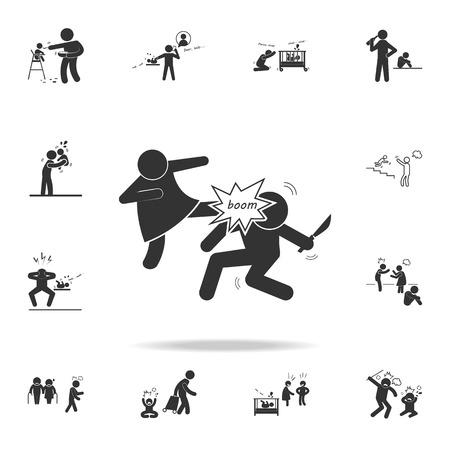 A family quarrel icon. Detailed set of illustration bad family icons. Premium quality graphic design.
