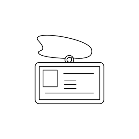 Badge or ID of banker icon. Element of banking icon for mobile concept and web apps. Illustration