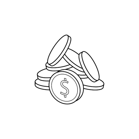 Coins icon. Element of banking icon for mobile concept and web apps.
