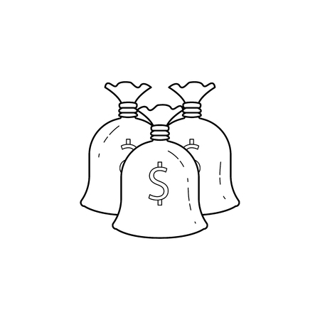 Cash bags icon. Element of banking icon for mobile concept and web apps.