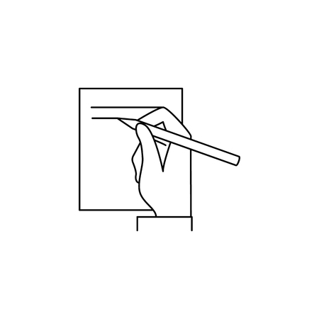 Signing treaty icon. Element of banking icon for mobile concept and web apps.