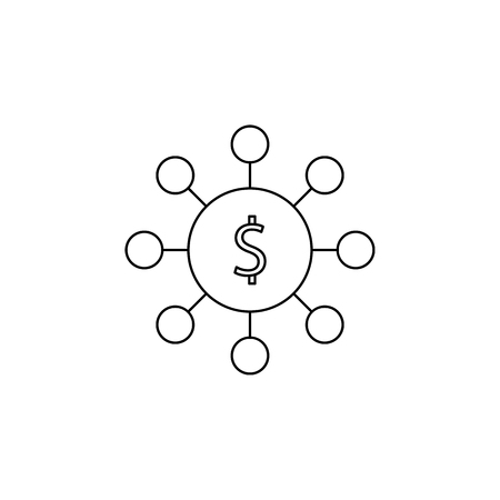 Circle of money icon. Element of banking icon for mobile concept and web apps.