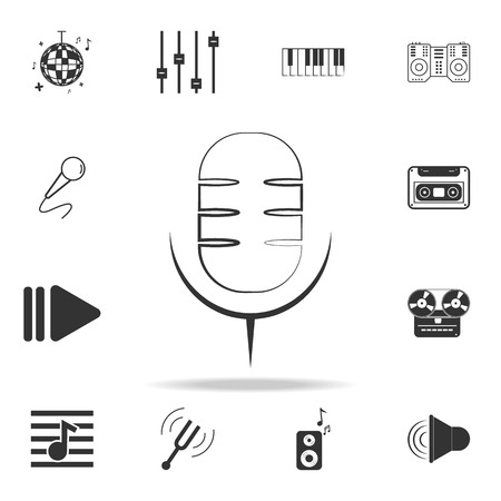 drum icon. Detailed set icons of Music instrument element icons. Premium quality graphic design. One of the collection icons for websites, web design, mobile app on white background  イラスト・ベクター素材