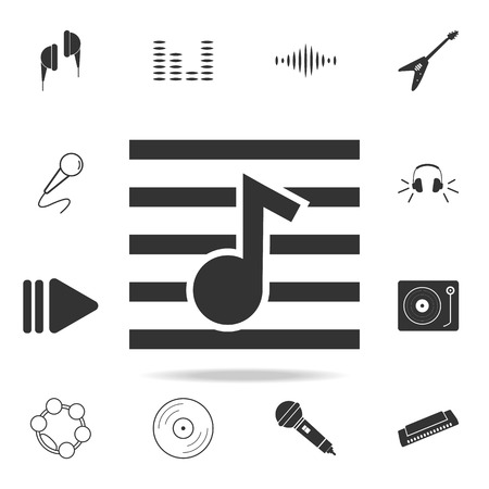 Lyre icon. Detailed set icons of Music instrument element icons. Premium quality graphic design. One of the collection icons for websites, web design, mobile app on white background