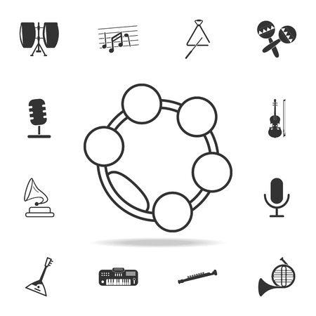 Musical triangle icon. Detailed set icons of Music instrument element icons. Premium quality graphic design. One of the collection icons for websites, web design, mobile app on white background