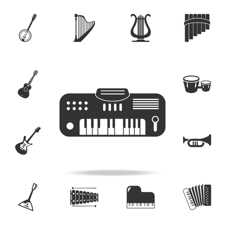 Electro guitar icon. Detailed set icons of Music instrument element icons. Premium quality graphic design. One of the collection icons for websites, web design, mobile app on white background Illustration