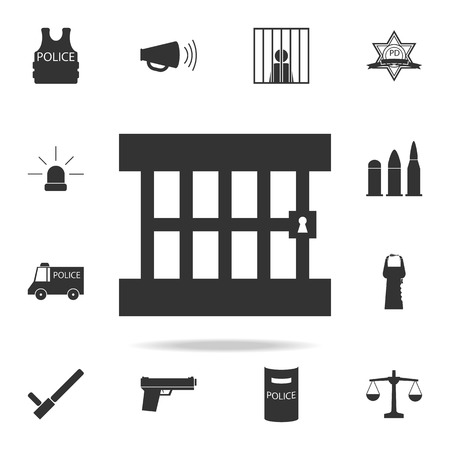 Detailed set of police element icons. Premium quality graphic design. One of the collection icons for websites, web design, mobile app on white background