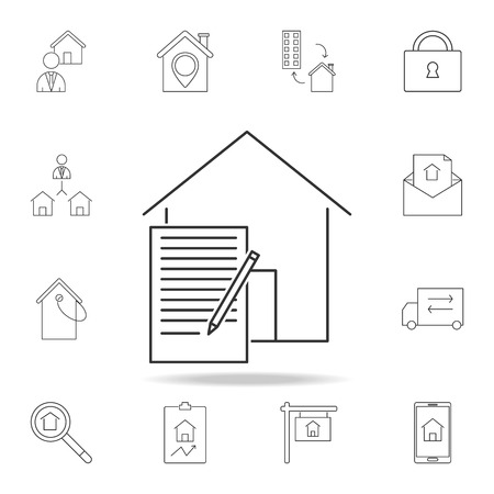 Lease Contract Icon.