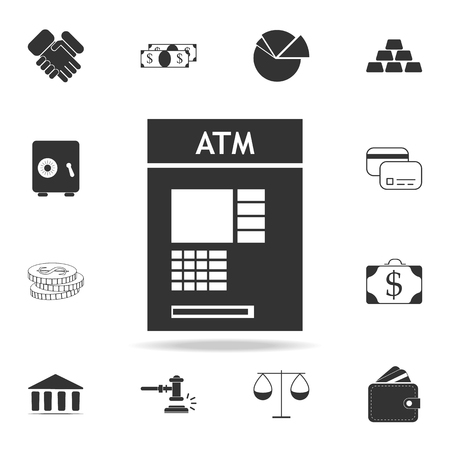 ATM icon. Detailed set of finance, banking and profit element icons.