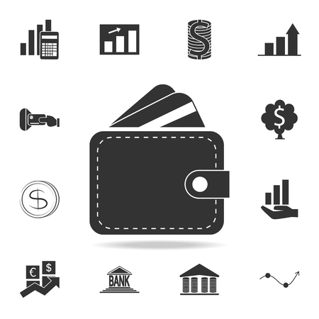 Wallet icon. Detailed set of finance, banking and profit element icons.