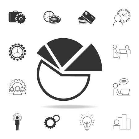 Pie chart icon. Detailed set of finance, banking and profit element icons. Stock Illustratie