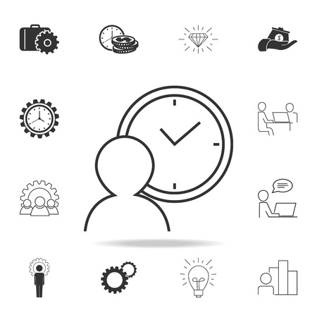 Person waiting sign icon. Detailed set of finance, banking and profit element icons.