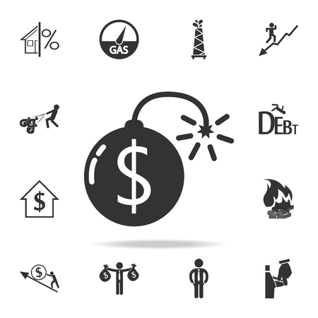 Dollar Bomb icon. Detailed set of finance, banking and profit element icons.