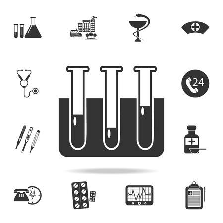 vials icon. Detailed set of medicine element Illustration. Premium quality graphic design. One of the collection icons for websites, web design, mobile app on white background