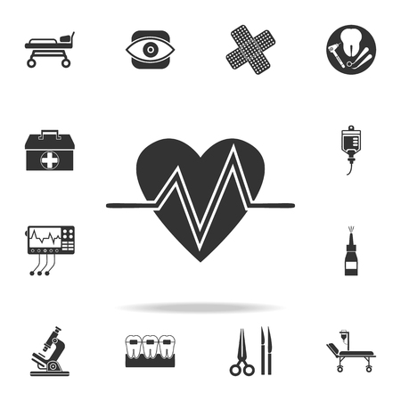 Heart Beat Icon. Detailed set of medicine element Illustration. Premium quality graphic design. One of the collection icons for websites, web design, mobile app on white background