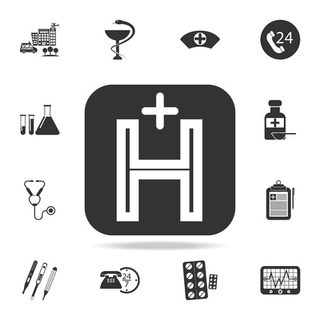 Helicopter landing pad icon. Detailed set of medicine element Illustration. Premium quality graphic design. One of the collection icons for websites, web design, mobile app on white background