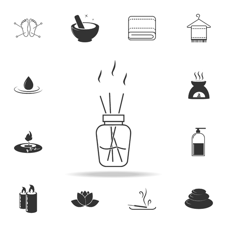Aroma sticks in bottle icon. Detailed set of SPA icons. Premium quality graphic design. One of the collection icons for websites, web design, mobile app on white background