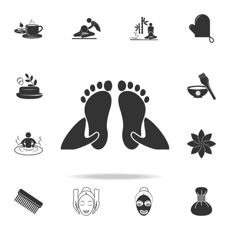 foot massage icon. Detailed set of SPA icons. Premium quality graphic design. One of the collection icons for websites, web design, mobile app on white background