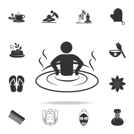 relaxation in the bathtub icon. Detailed set of SPA icons. Premium quality graphic design. One of the collection icons for websites, web design, mobile app on white background 向量圖像