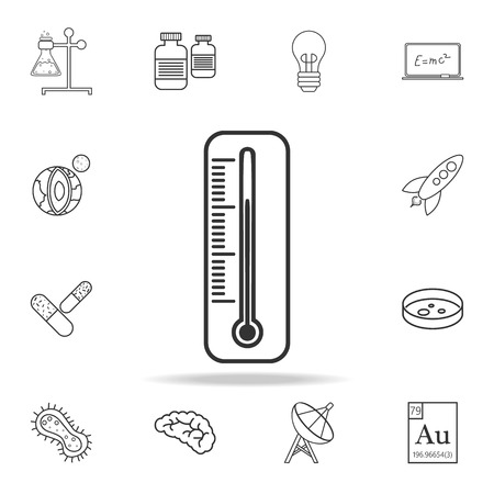 Thermometer line icon. Detailed set of science and learning outline icons. Premium quality graphic design. One of the collection icons for websites, web design, mobile app on white background