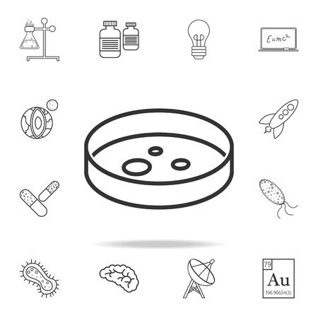 Microscope slide icon. Detailed set of science and learning outline icons. Premium quality graphic design. One of the collection icons for websites, web design, mobile app on white background Vectores