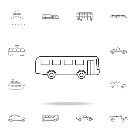Bus Icon. Detailed set of transport outline icons. Premium quality graphic design icon. One of the collection icons for websites, web design, mobile app on white background