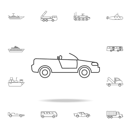 Cabriolet car icon. Detailed set of transport outline icons. Premium quality graphic design icon. One of the collection icons for websites, web design, mobile app on white background
