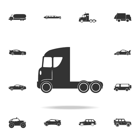 Truck without a trailer icon. Detailed set of transport icons. Premium quality graphic design. One of the collection icons for websites, web design, mobile app on white background