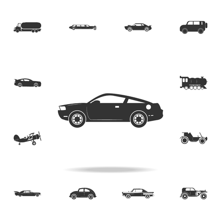 Muscle car icon. Detailed set of transport icons. Premium quality graphic design.