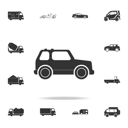 Jungle off-road car icon. Detailed set of transport icons. Premium quality graphic design. One of the collection icons for websites, web design, mobile app on white background