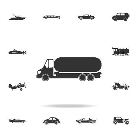 truck auto barrel icon. Detailed set of transport icons. Premium quality graphic design.