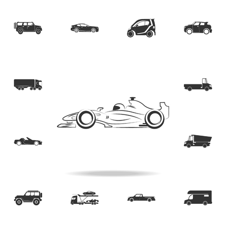 Bolide race car logo icon. Detailed set of transport icons. Premium quality graphic design.