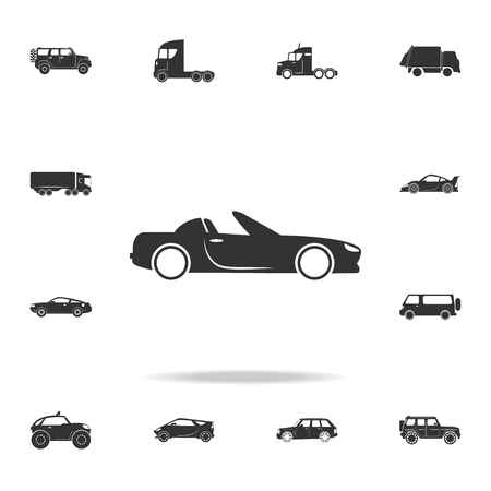 cabriolet car icon. Detailed set of transport icons. Premium quality graphic design. One of the collection icons for websites, web design, mobile app on white background Vectores