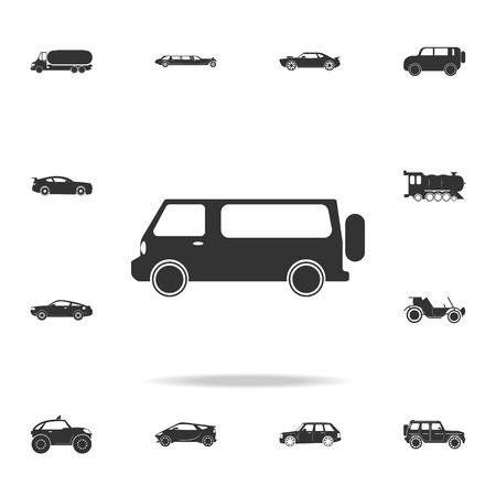 Minivan icon. Detailed set of transport icons. Premium quality graphic design. One of the collection icons for websites, web design, mobile app on white background