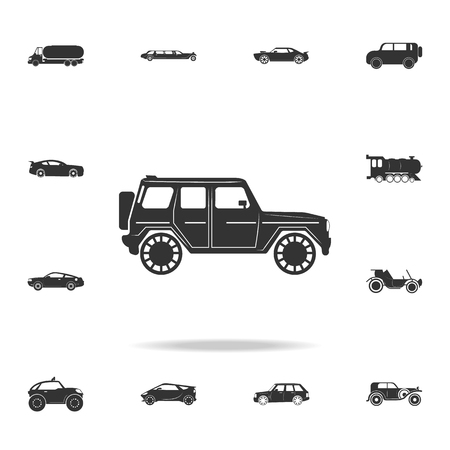 Luxury Off-road car icon. Detailed set of transport icons. Premium quality graphic design. One of the collection icons for websites, web design, mobile app on white background Standard-Bild - 97280742