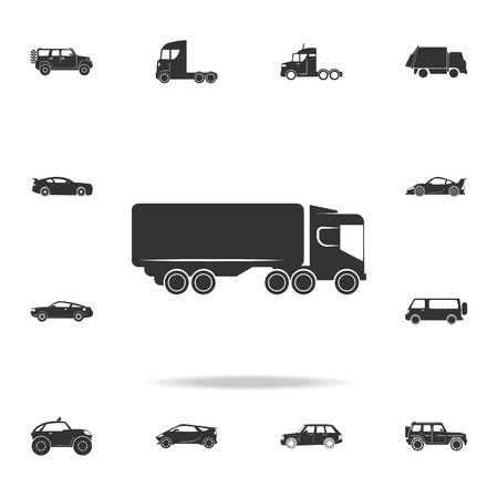 lorry with a trailer icon. Detailed set of transport icons. Premium quality graphic design. One of the collection icons for websites, web design, mobile app on white background