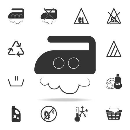 Ironing at an average temperature of up to 180 degrees icon. Detailed set of laundry icons. Premium quality graphic design. One of the collection icons for websites, web design on white background.