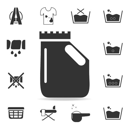 bottle with sterile liquid icon. Detailed set of laundry icons. Premium quality graphic design. One of the collection icons for websites, web design, mobile app on white background. Vectores