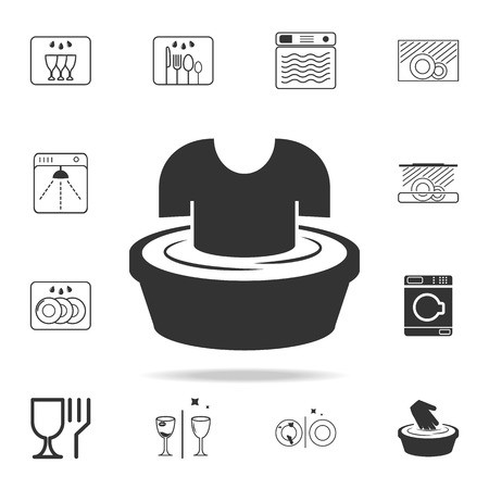 Sign of soaking clothes icon. Detailed set of laundry icons. Premium quality graphic design. One of the collection icons for websites, web design, mobile app on white background. Stockfoto - 97289005