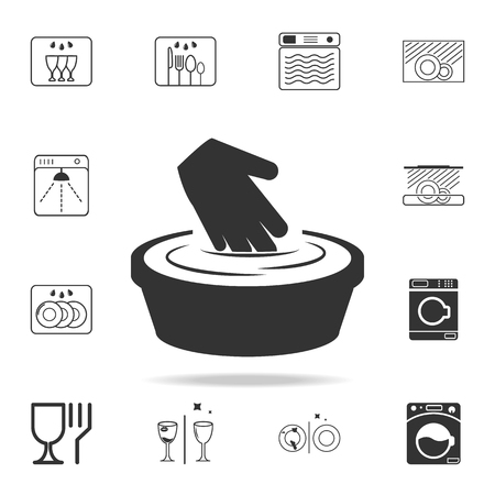 Sign To steam out a thing is forbidden icon. Detailed set of laundry icons. Premium quality graphic design. One of the collection icons for websites, web design, mobile app on white background. Stockfoto - 97289007