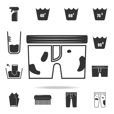 Dirty underwear icon. Detailed set of laundry icons. Premium quality graphic design. One of the collection icons for websites, web design, mobile app on white background Vektorové ilustrace