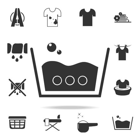 A sign of an average soapy wash icon. Detailed set of laundry icons. Premium quality graphic design. One of the collection icons for websites, web design, mobile app on white background Vectores