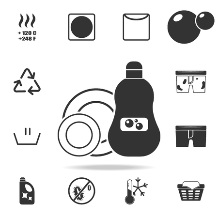 Dishwashing liquid icon. Detailed set of laundry icons. Premium quality graphic design. One of the collection icons for websites, web design, mobile app on white background