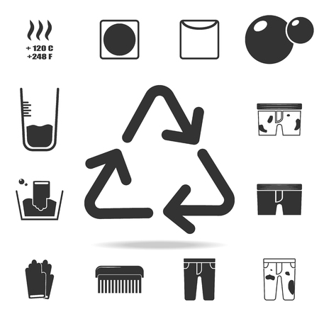 Raw material recycling sign icon. Detailed set of laundry icons. Premium quality graphic design. One of the collection icons for websites, web design, mobile app on white background