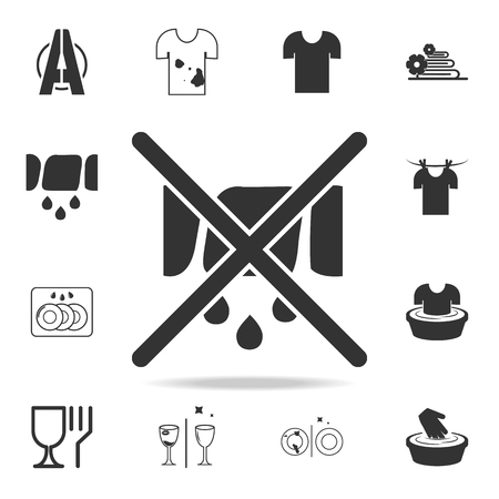 The sign can not be squeezed icon. Detailed set of laundry icons. Premium quality graphic design. One of the collection icons for websites, web design, mobile app on white background Ilustrace