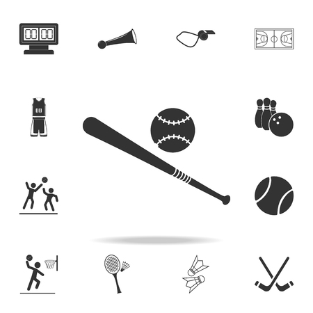 baseball bat and ball icon. Detailed set of athletes and accessories icons. Premium quality graphic design. One of the collection icons for websites, web design, mobile app on white background Illustration