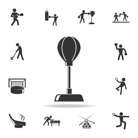 Punching bag icon. Detailed set of athletes and accessories icons on white background