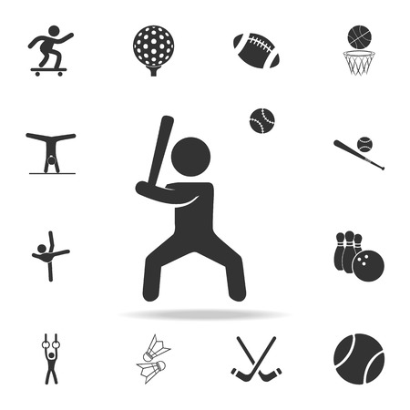 baseball player icon. Detailed set of athletes and accessories icons. Premium quality graphic design. One of the collection icons for websites, web design, mobile app on white background